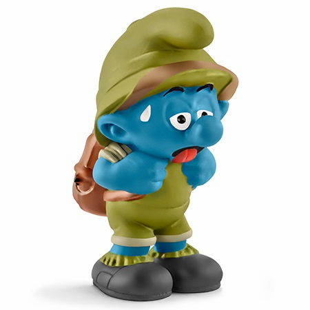 Schleich - Jungle Smurf Tired