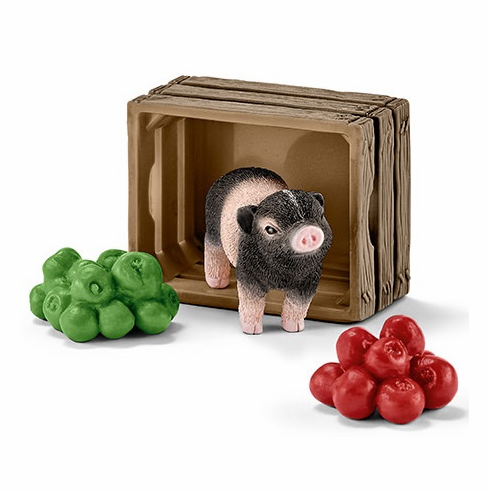 Schleich - Mini Pig w/ Apples