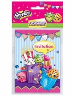 Shopkins - Party Invitations - 8 Pack