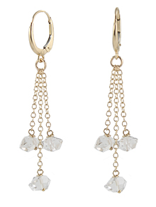 14k Gold Herkimer Sparkler Earrings