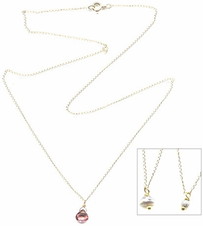 14k Whisper Gem Necklace -- NA