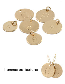 Add a Gold Initial Charm