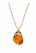 Amber Droplet Necklace