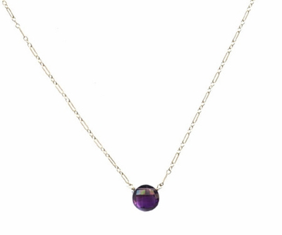Amethyst Bubble Necklace