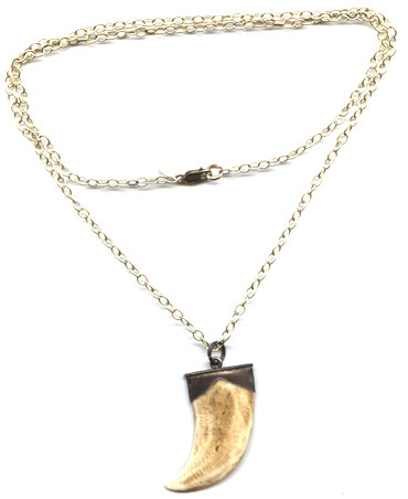 Antiqued Horn Necklace -- NA