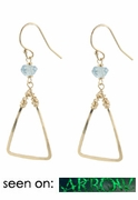 Aquamarine Triangle Earrings - seen on Arrow