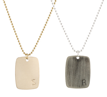 Bauhaus Personalized Dogtag Necklace