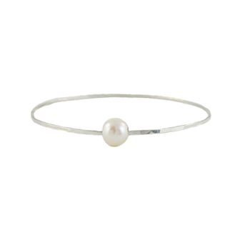 Big Pearl Bangle Bracelet