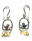Bird on a Branch Earrings -- NA