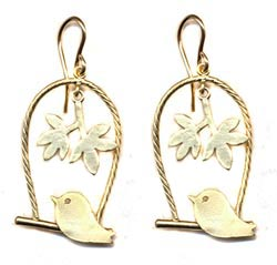 Bird on a Swing Earrings -- NA