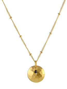 Black Diamond Disk Necklace