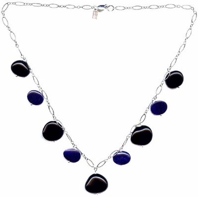 Black Onyx and Blue Lapis Necklace