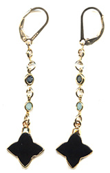 Black Star Crystal Earrings