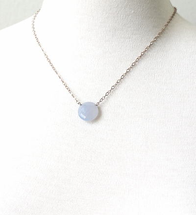 Blue Chalcedony Bubble Necklace