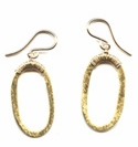 Brushed Gold Oval Earrings