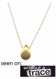 Brushed Gold Teardrop Necklace