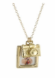 Camera and Portrait Charm Necklace