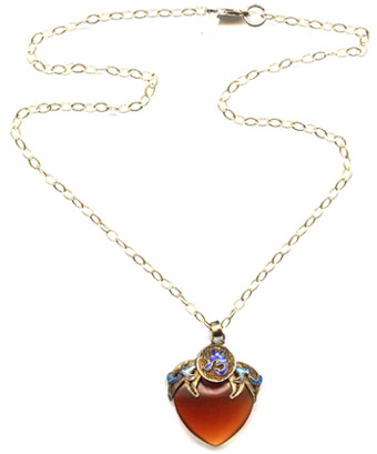 Carnelian Point Necklace -- NA