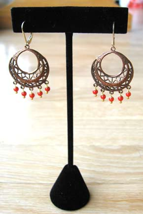 Cha Cha Copper Earrings