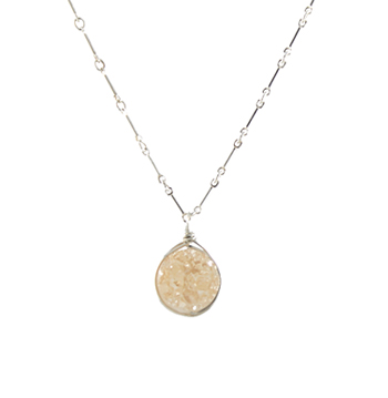 Champagne Druzy Necklace