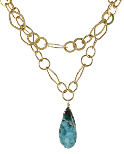 Chrysocolla Crystal Necklace