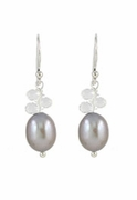 Classic Pearl  and Topaz Earrings