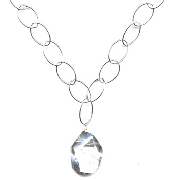 Clear Crystal Loopy Necklace -- NA