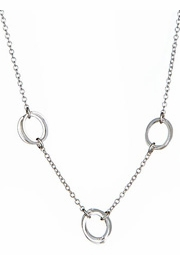 Clustered 3-Circle Necklace