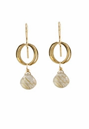 Clustered Circle Gem Earrings