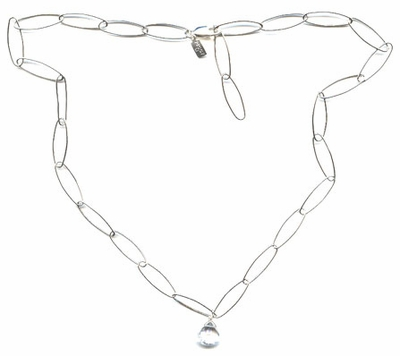 Cobweb White Topaz Necklace -- NA