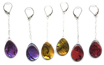 Colored Abalone Earrings