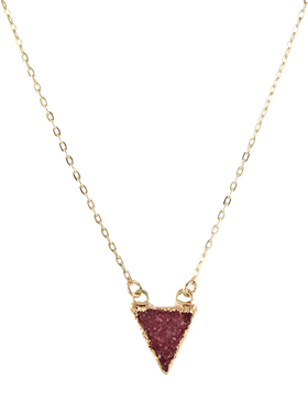 Cranberry Drusy Necklace