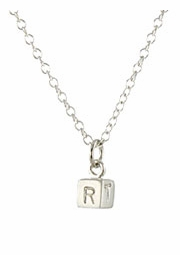 Cube Initial Necklace