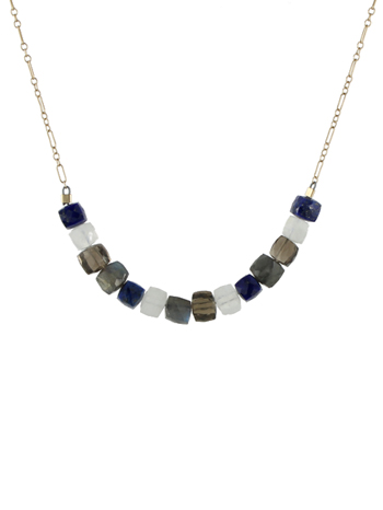Cubed Gemstone Necklace