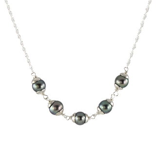 Cupped Pearl Necklace