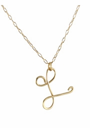 Cursive Initial Necklace