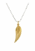 Dazzling Angel Wing Charm Necklace