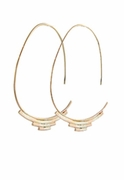 Deco Open Hoop Earrings