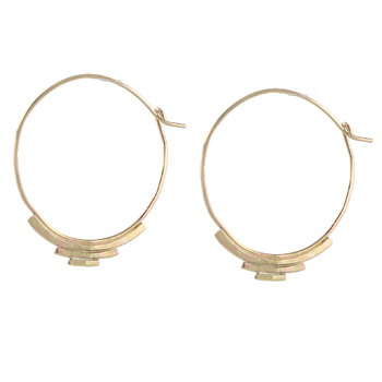 Deco Round Hoop Earrings