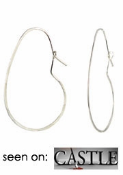 Delicate Bean Hoop Earrings