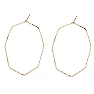 Delicate Octagon Hoop Earrings