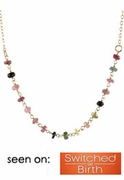 Delicate Tourmaline Chain Necklace