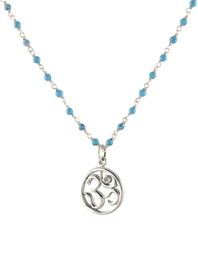 Diamond Om Beaded Necklace