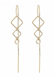 Diamondback Threader Earrings