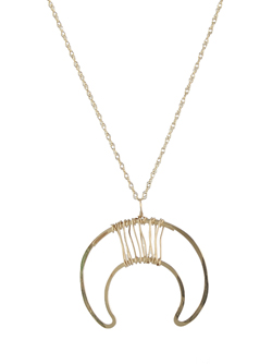 Double Horn Necklace