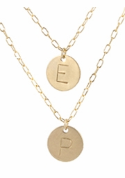 Double Strand Initial Necklace