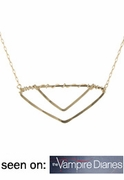 Double V Necklace