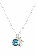 Evil Eye Hamsa Duo Necklace