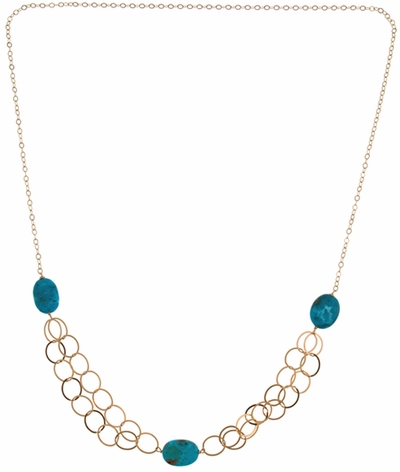 Floating Chain 3-Stone Necklace