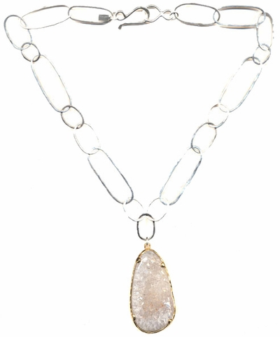 Fused Chain with Crystal Necklace